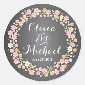 Charming Garden Floral Wreath II Custom Sticker