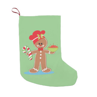 Charming Gingerbread Man Small Christmas Stocking