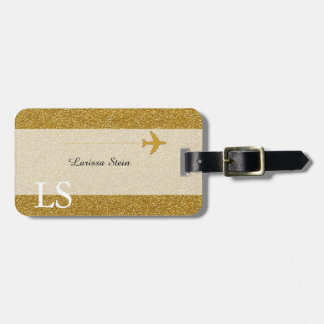 charming gold personalized luggage tag