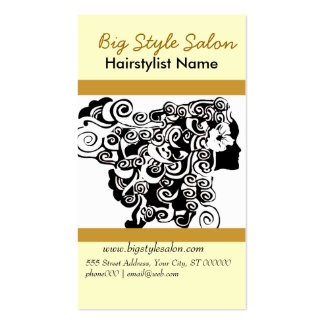 Charming Hair Silhouette Spa Business Cards
