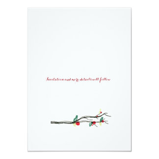 Charming Holly Tree Save The Date Cards 11 Cm X 16 Cm Invitation Card