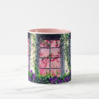 Charming Ivy & Freesia Covered Cottage Mug