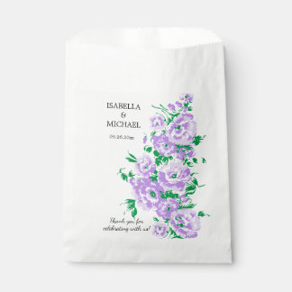 Charming Lavender Flower Wedding Favour Bags