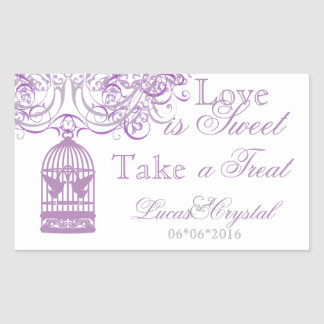 Charming Liliac Birdcage Candy Buffet Sticker
