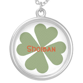 Charming Lucky Clover Round Pendant Necklace