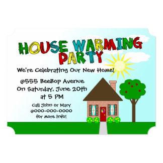 Charming Naive Art House Warming Party Invitation
