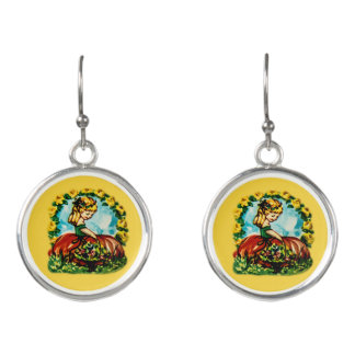 Charming pair of earrings with a vintage look