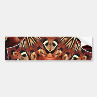 Charming Pheasant Feathers Kaleidoscope Bumper Sticker