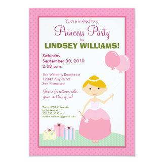 Charming Polkadot Princess Party Invitation