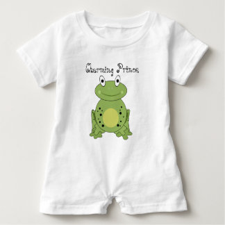 Charming Prince Cute Green Frog Baby Bodysuit