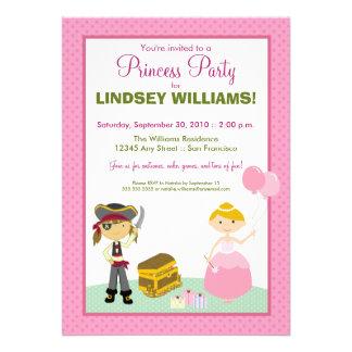 Charming Princess Pirate Party Invitation