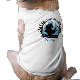 Charming princess stylish silhouette singing bird sleeveless dog shirt