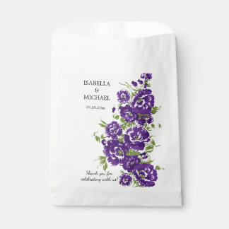 Charming Purple Flower Wedding Favour Bags