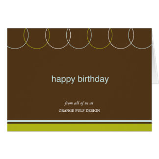 Charming Rings Business Birthday Cards