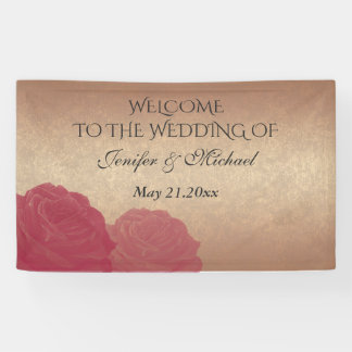 Charming romantic rose gold roses wedding
