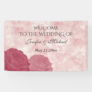 Charming romantic watercolor rose wedding