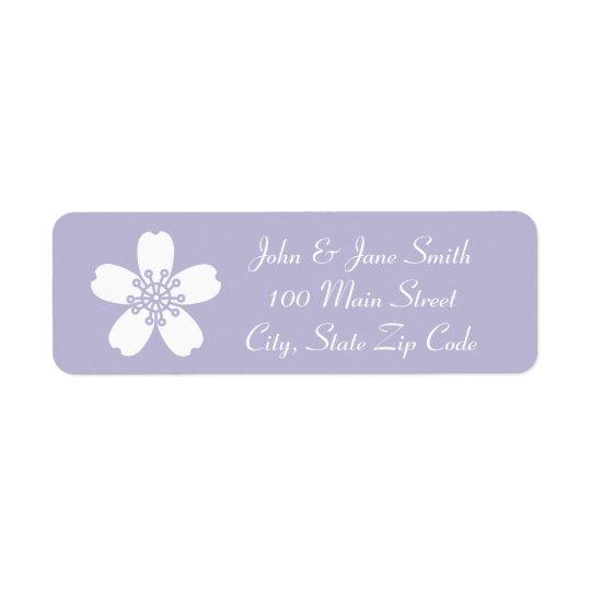 Charming Sakura in Lavender Return Address Label