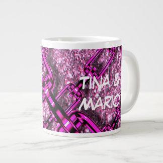 charming shiny chains pink (I) Jumbo Mug