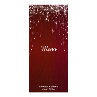 Charming Star Struck Wedding | Burgundy Red Rack Card Design