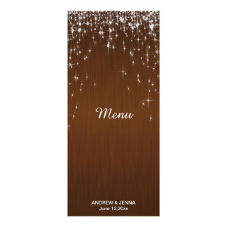 Charming Star Struck Wedding | Chocolate Brown Personalized Rack Card