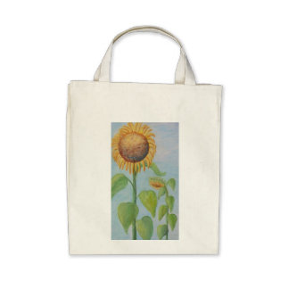 CHARMING SUNFLOWER Grocery Tote Bags