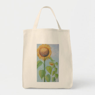 CHARMING SUNFLOWER Grocery Tote Grocery Tote Bag