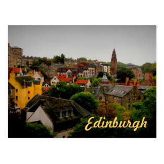 charming tinted Edinburgh souvenir postcard