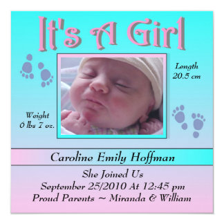 Charming & Unique Baby Birth Announcement