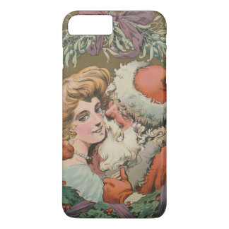 Charming Vintage Kissing Santa Christmas Wreath iPhone 8 Plus/7 Plus Case