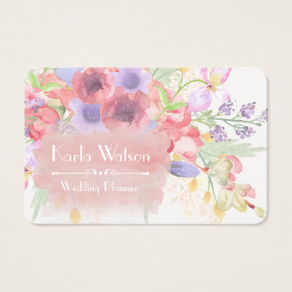 Charming Watercolor Floral Business Cards