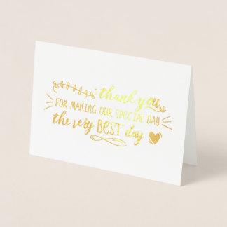 Charming Wedding Thank You Foil Card