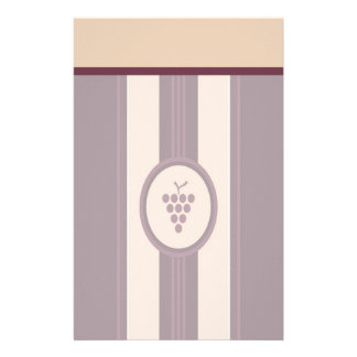 Charming Wine Grapes Stationery with Letterhead
