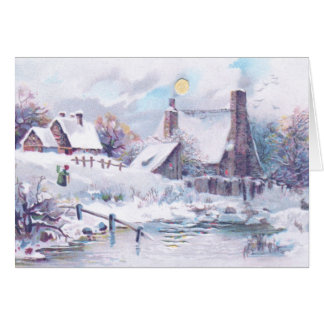 Charming Winter Scene Greeting Card