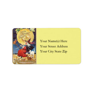 Charms of the Witching Hour Vintage Address Label