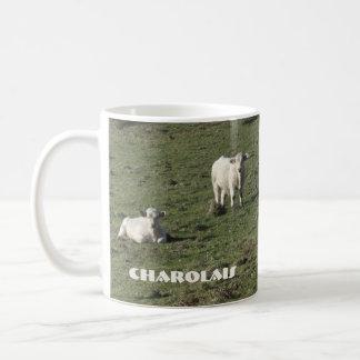 Charolais cow and calves mug