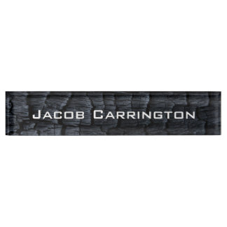 Charred Wood Nameplate