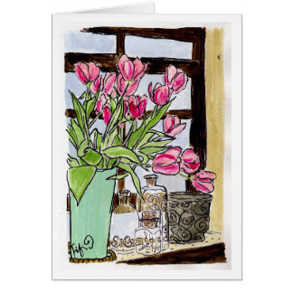 Char's Tulip Window Card