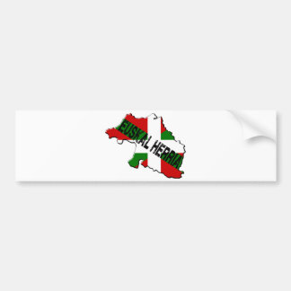 Chart Basque Country plus flag euskal herria Bumper Sticker