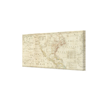 Chart containing the Coasts of California Gallery Wrapped Canvas