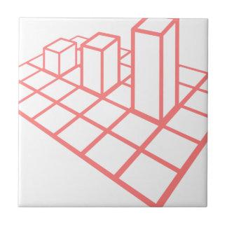 Chart Growth Ceramic Tile