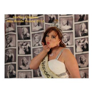 chart Marilyn Castle Round Miss France 2016 Postcard