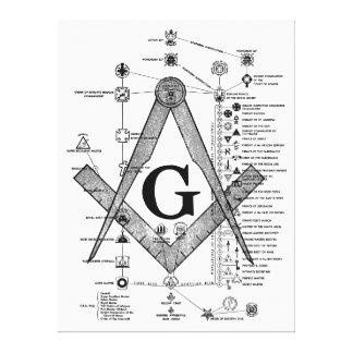 Chart of Masonic Degrees Stretched Canvas Print
