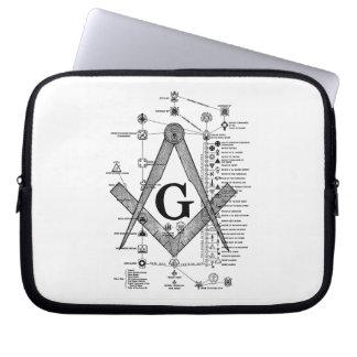 Chart of Masonic Degrees Laptop Sleeve