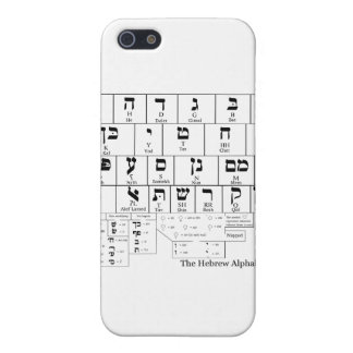 Chart of the Alphabet in the Hebrew Language iPhone 5/5S Covers