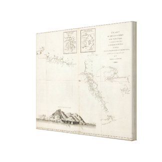 Chart of the Discoveries to the North of Japan Stretched Canvas Prints