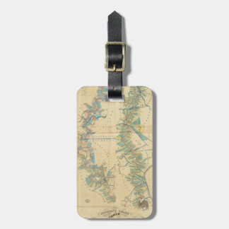 Chart of The Lower Mississippi River Luggage Tag