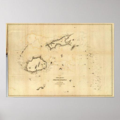 Chart of the Viti Group or Fiji Islands Print