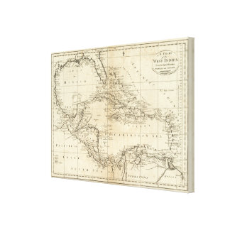 Chart of the West Indies 2 Gallery Wrap Canvas