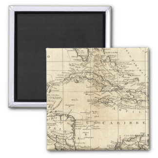 Chart of the West Indies 2 Square Magnet
