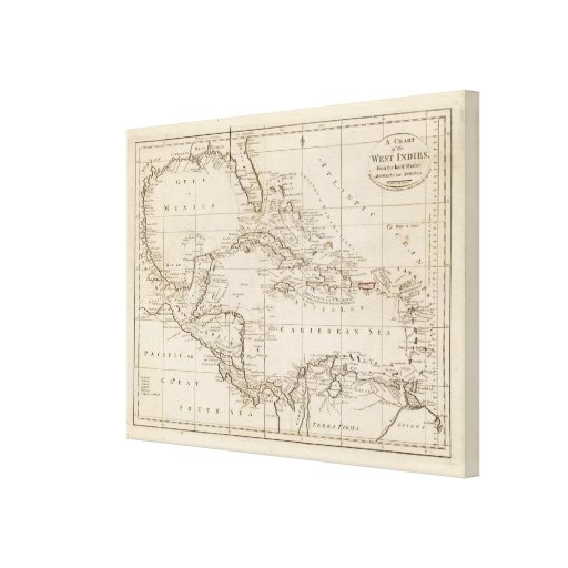 Chart of the West Indies Canvas Print